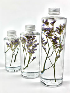 'Botanical Bottled' (Dried Limonium Diamond Blue)