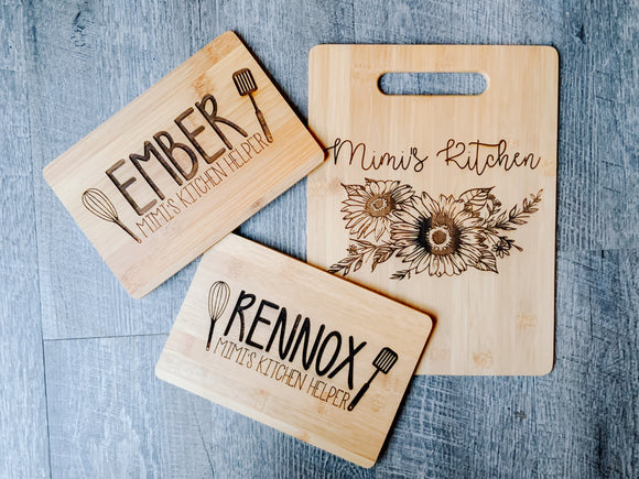Mommy & Me Cutting Board Set of 2!