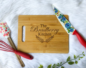 Custom Cutting Board with Last Name | Mothers Day Gift | Christmas Gift | Newlywed Gift | Bridal Shower Gift
