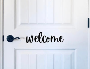 Welcome Wooden Word Cutout