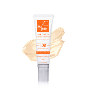 "Suntegrity ""5 In 1"" Natural Moisturizing Face Sunscreen - Tinted, Broad Spectrum SPF 30"