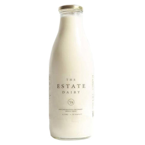 The Estate Dairy Whole Milk Glass Bottle 1L