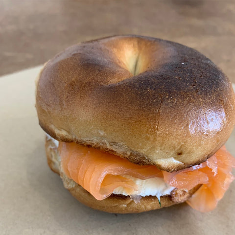 Smoked Salmon and Dill Cream Cheese Toasted Bagel