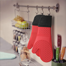 Load image into Gallery viewer, Tribal Cooking Silicone Oven Mitts, Extra Long One Pair