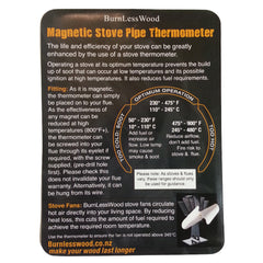 Stove Top Fan & Flue Pipe Thermometer Combo