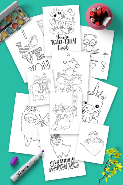 Mega Coloring bundle >>150 pages!