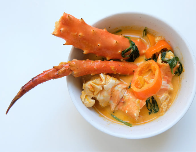 King Crab Leg with Yellow Curry Sauce