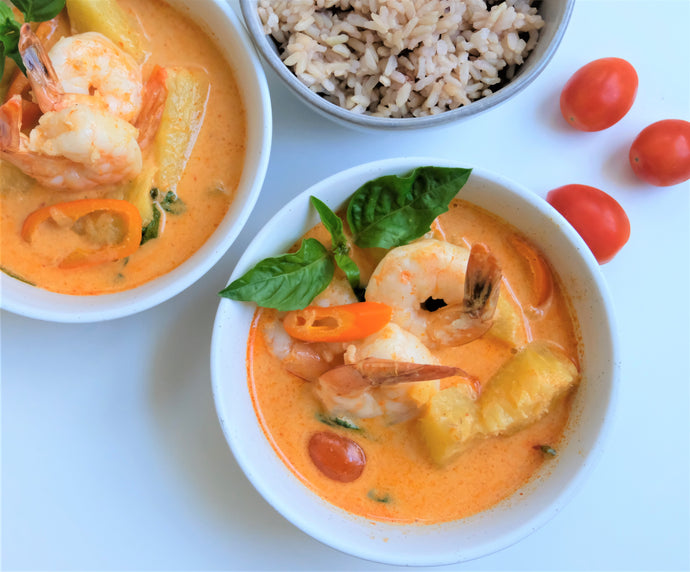 Pineapple Red Curry with Shrimp