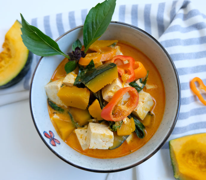 Pumpkin Red Curry with Tofu  (V)