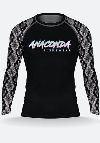 White Anaconda Long sleeve Rashguard