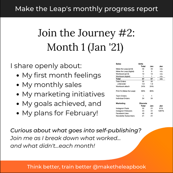 Join the Journey #2: Month 1 Progress Report (Jan 2021)