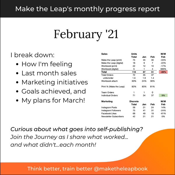 Join the Journey #3: Make the Leap's February 2021 Progress Report