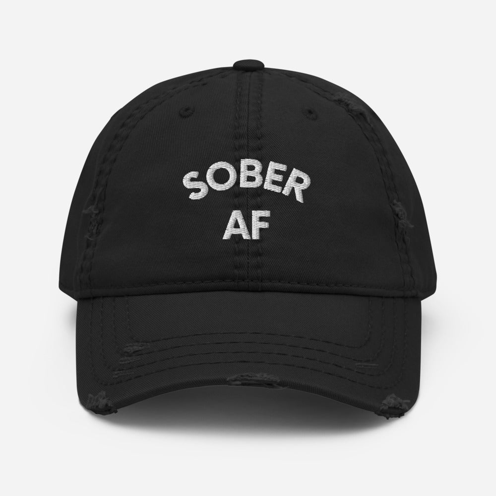 SOBER AF - Distressed Dad Hat