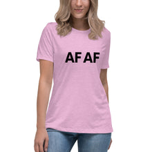 Load image into Gallery viewer, AF AF - Women's Relaxed T-Shirt {available in multiple colors}