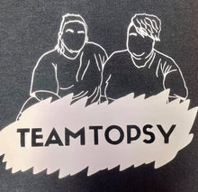 "Load image into Gallery viewer, Black ""Team Topsy"" Pocket Unisex Slogan T-Shirt - Topsy Curvy Ltd"