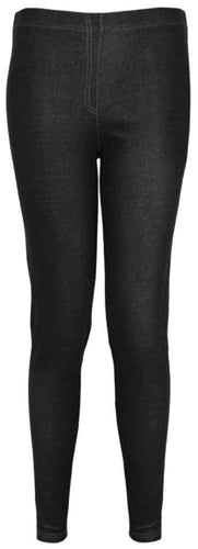 Black Denim Look Basic Jeggings - Topsy Curvy Ltd