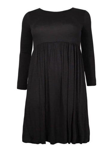 Black Smock Dress - Topsy Curvy Ltd