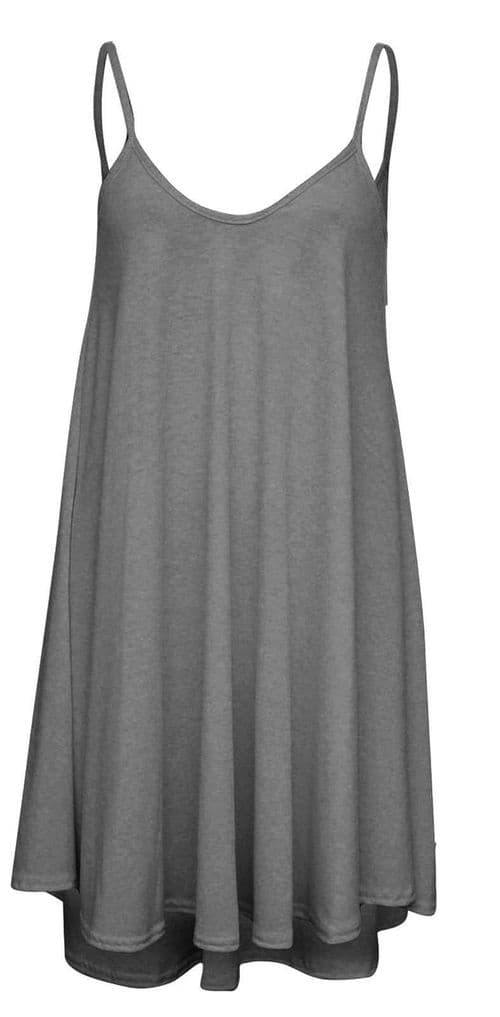 Charcoal Longline Camisole