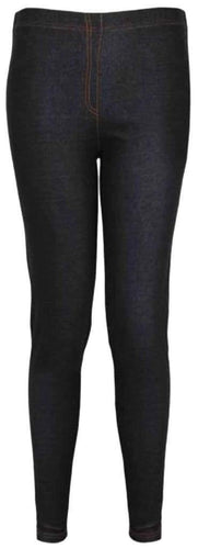 Dark Wash Denim Look Basic Jeggings - Topsy Curvy Ltd