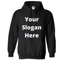 Load image into Gallery viewer, Design-Your-Own Oversized Black Longline Hoodie - Topsy Curvy Ltd