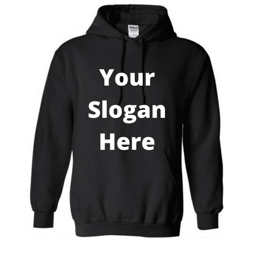 Design-Your-Own Oversized Black Longline Hoodie - Topsy Curvy Ltd