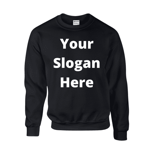 Design-Your-Own Slogan Sweatshirt - Topsy Curvy Ltd