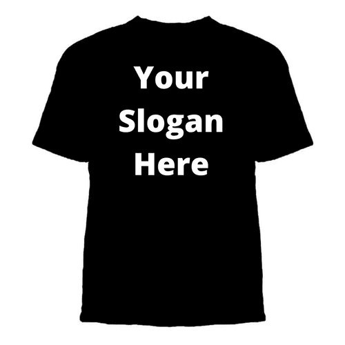 Design-Your-Own Unisex Slogan T-shirt - Topsy Curvy Ltd