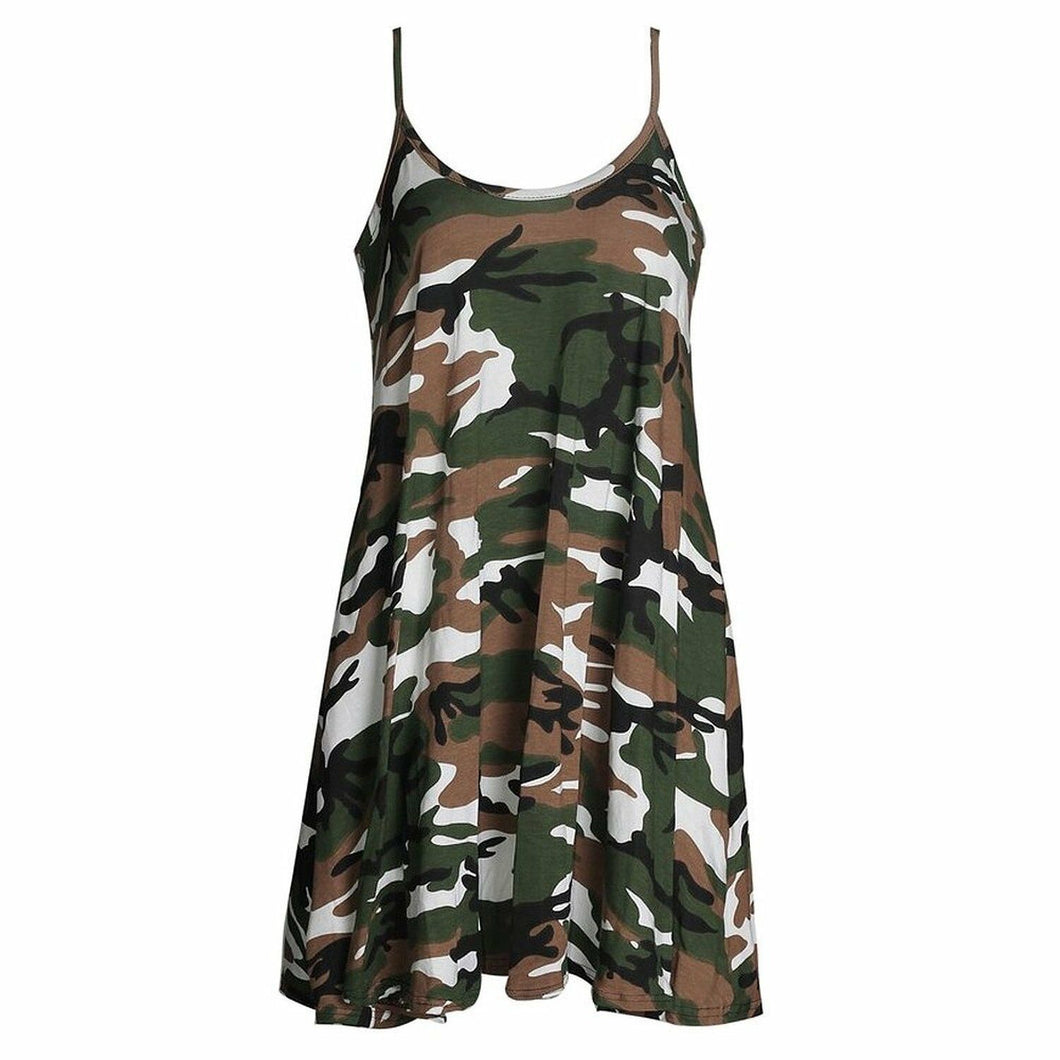 Camouflage Print Longline Camisole