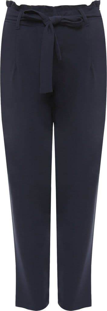 Navy Paperbag Tie Waist Trousers