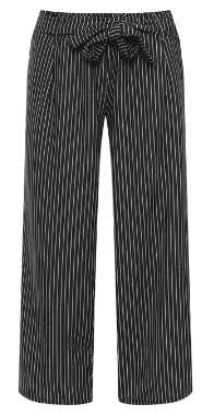 Striped Paperbag Tie Waist Trousers