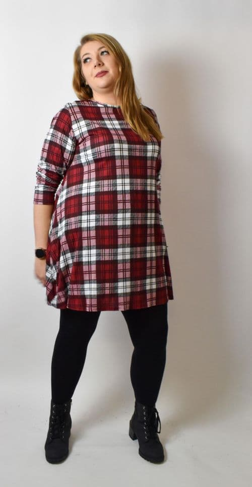 Red Tartan Soft Touch Swing Tunic