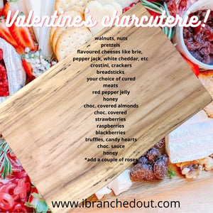 A twist on the traditional! A Valentine's Day Charcuterie Board!