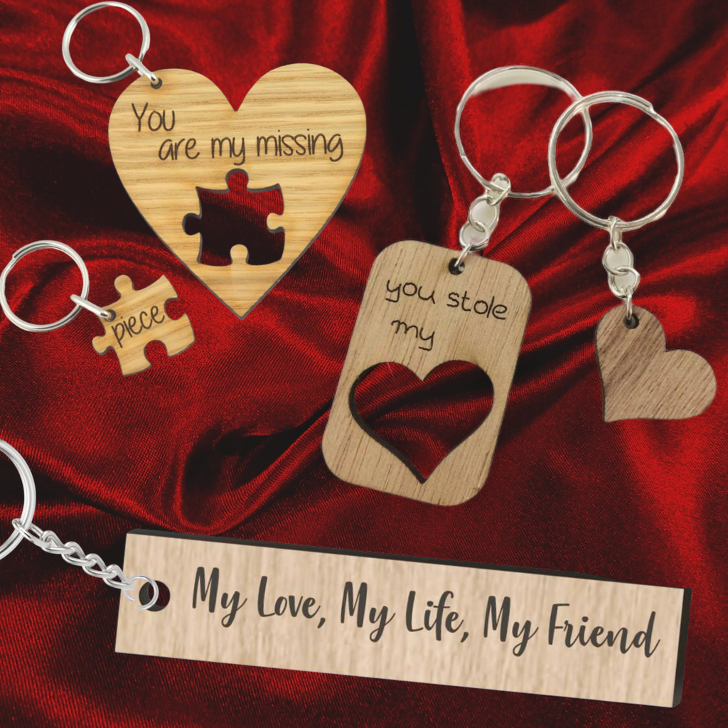 Keychains for your Valentine!