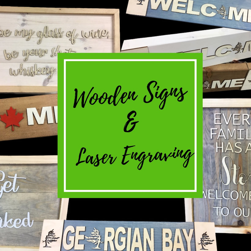 Wooden Signs & Laser Engraving