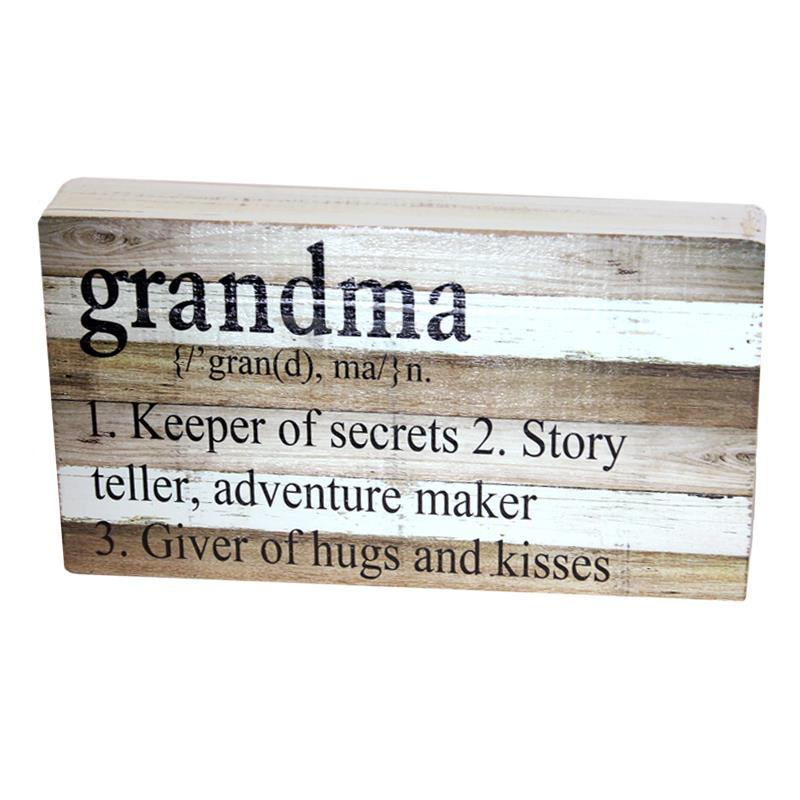 "Grandma - ""Keeper of secrets"" Wooden Box Sign"