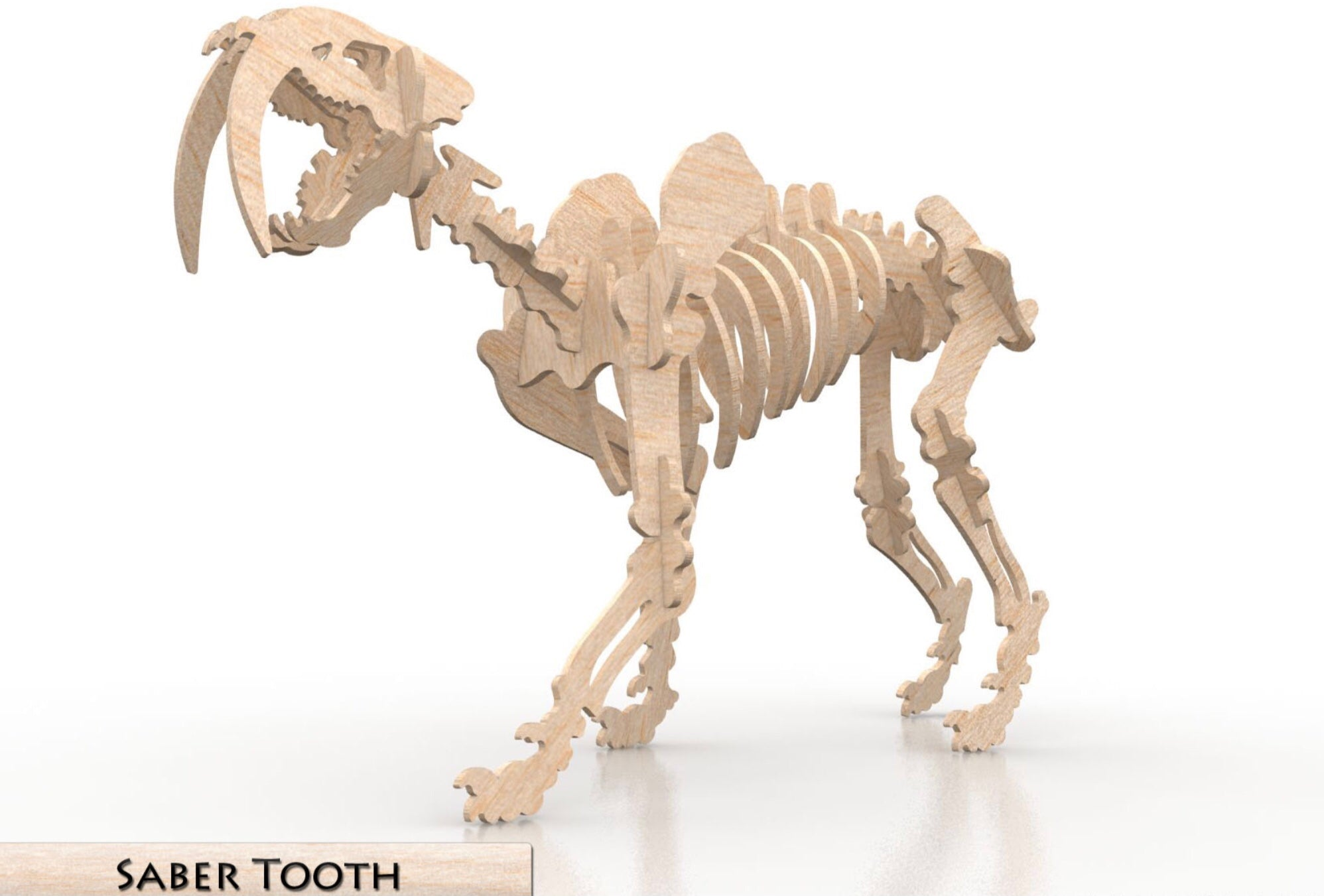 3D Puzzle- Dinosaur Collection: Saber Tooth