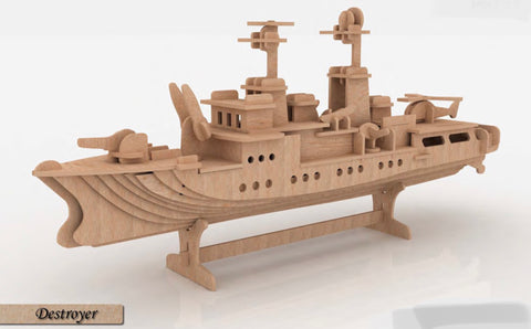 3D Puzzle, Vehicle Collection - Destroyer War Ship