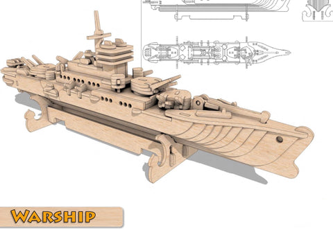 3D Puzzle, Vehicle Collection - Warship