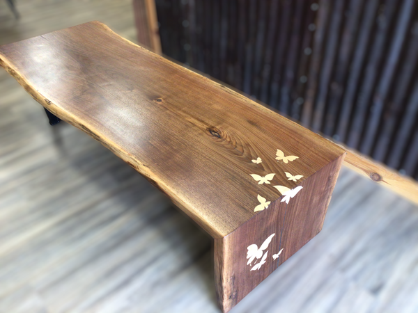 Butterfly Walnut Waterfall Bench / Table