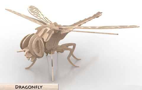 3D Puzzle, Insect Collection - Dragonfly