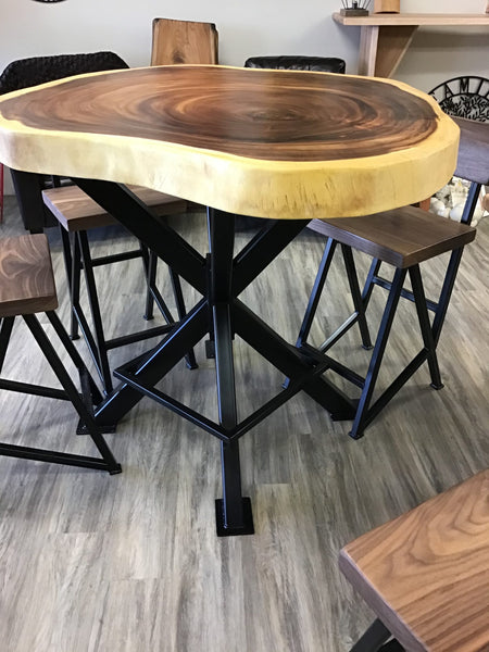 Sold - Parota Pub Table Package