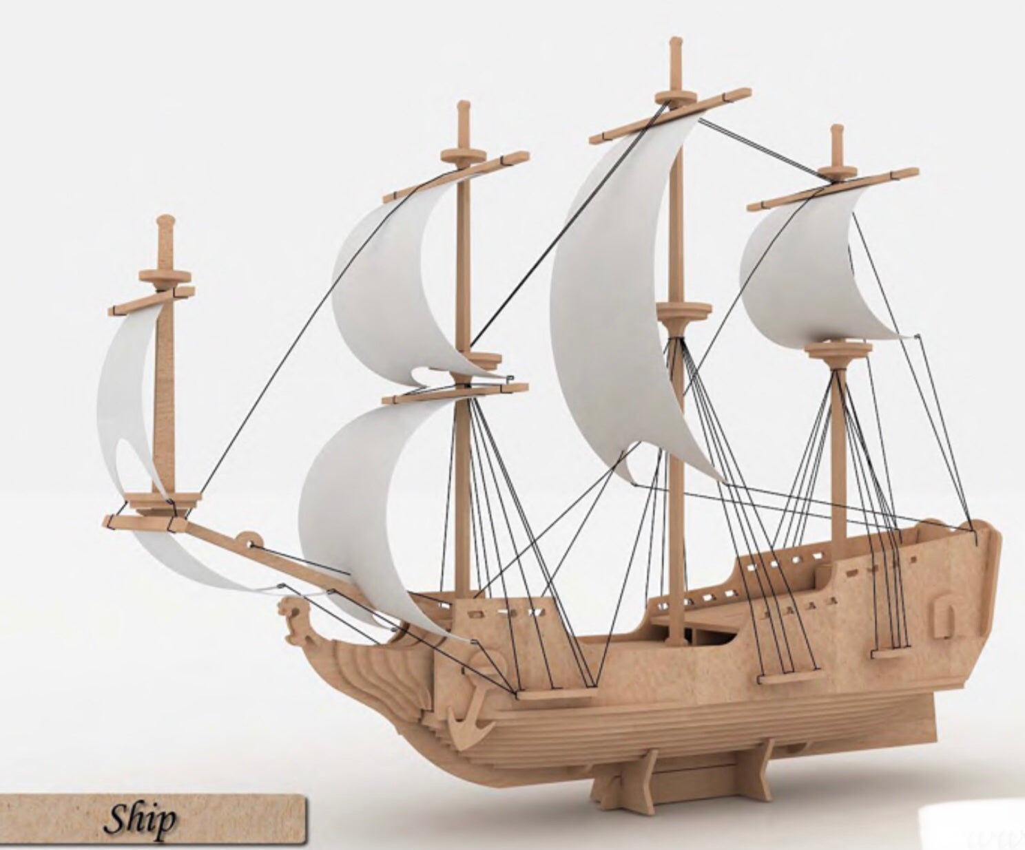 3D Puzzle, Vehicle Collection - Pirate Ship