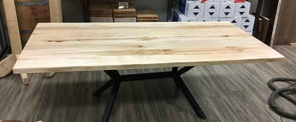 Wormy Maple Dining Table - 7'