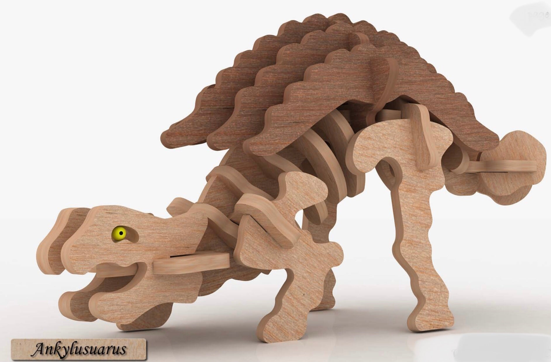 3D Puzzle- Dinosaur Collection: Ankylusuarus