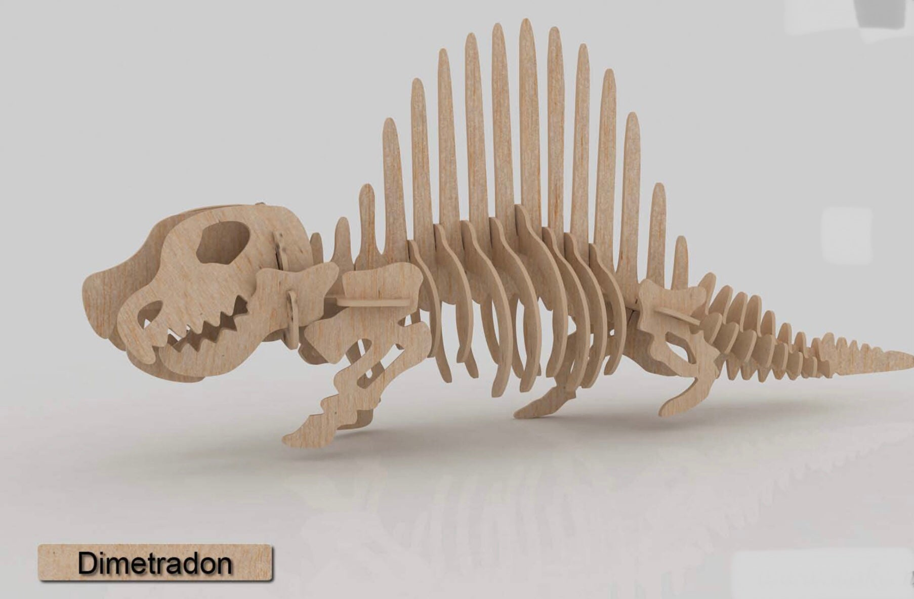 3D Puzzle- Dinosaur Collection: Dimetradon