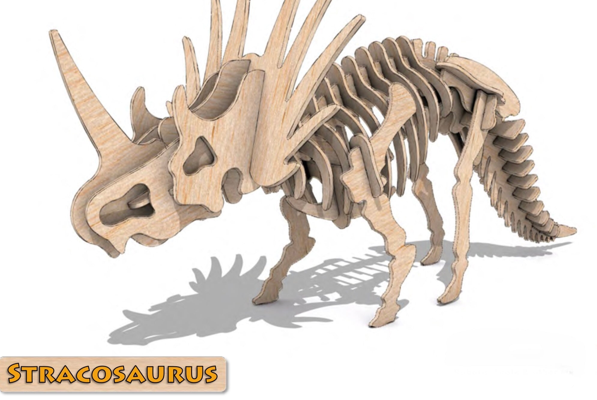 3D Puzzle- Dinosaur Collection: Stracosaurus