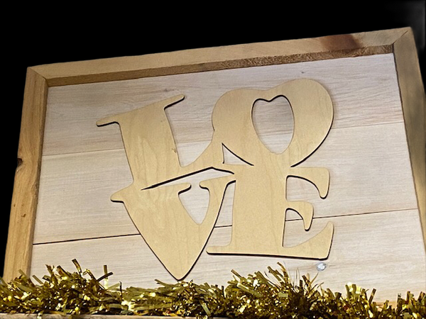 LOVE - Rustic Wooden Sign