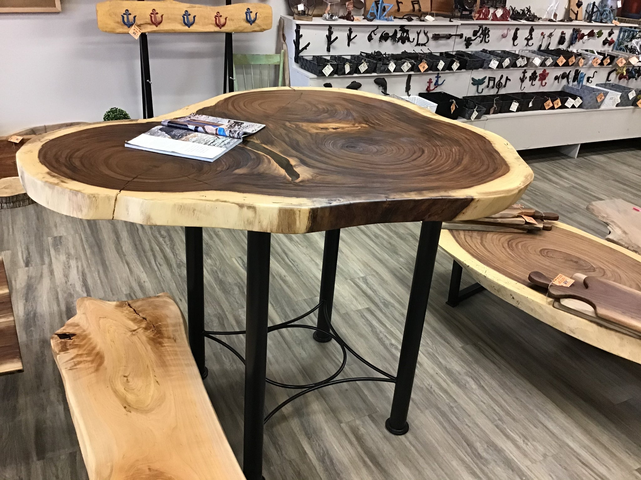 Parota Pub Table - Tri-shaped