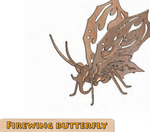 3D Puzzle, Insect Collection - Firewing Butterfly