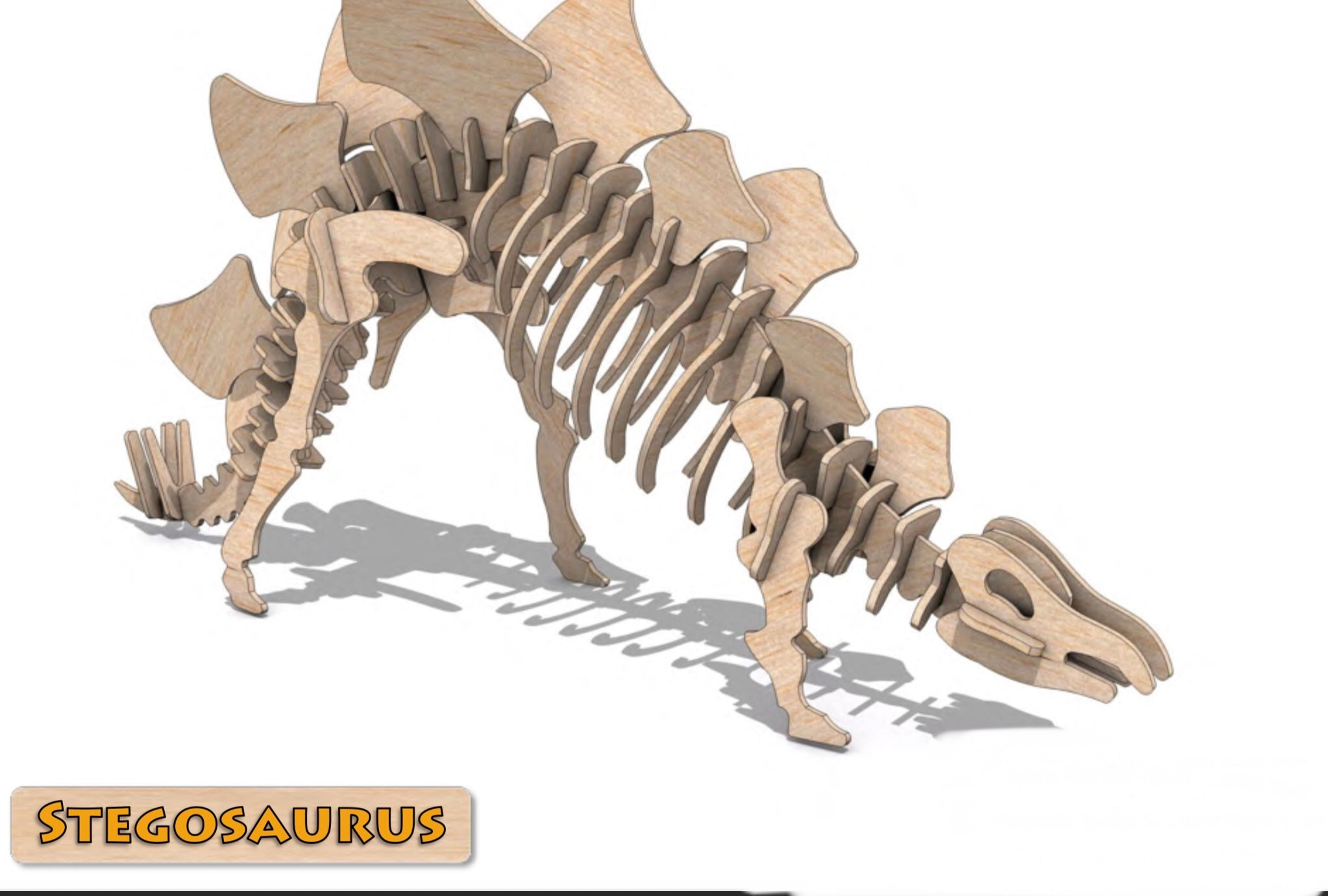 3D Puzzle- Dinosaur Collection: Stegosaurus